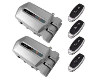 Cerraduras invisibles plata con alarma